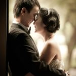 Bridal Photography Singapore bride and groom nose to nose smiling and hugging