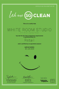 white room studio is SG Clean