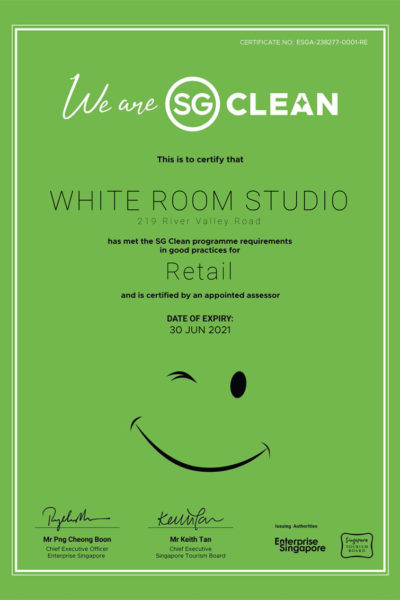 white room studio is SG Clean