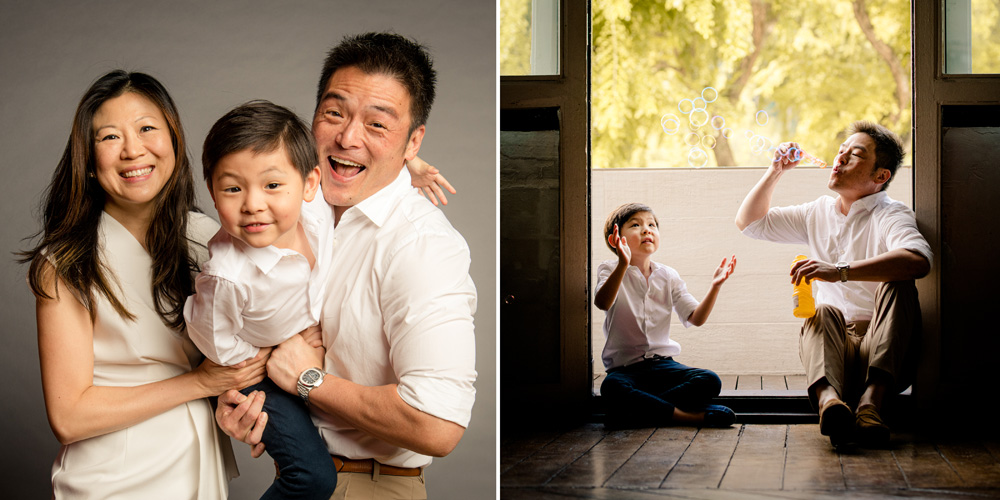 family photoshoot in photo studio at river valley, singapore